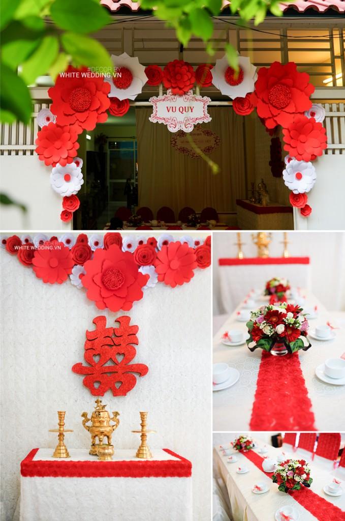 GÓI 2 - GÓI TRANG TRÍ HOA GIẤY Khác với gói 1 là sử dụng cổng hoa và  backdrop trang trí bằng hoa giấy với nhiều mẫu tke lạ mắt và màu sắc đa dạng.